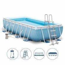 Intex 26778 Former 28318 Prism Frame Above Ground Pool Rectangular 488x244x107cm