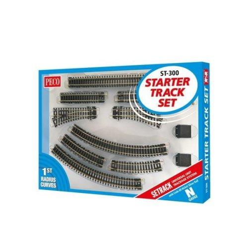 N gauge Starter Track Set, First Radius - Peco ST-300 code 80 - F1