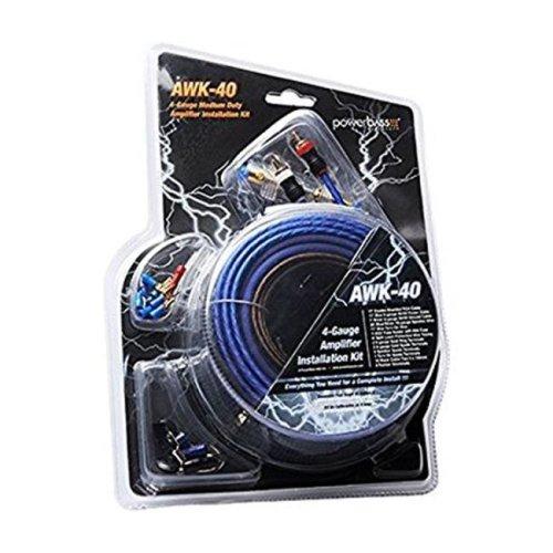 PowerBass P1T-AWK40 4 Gauge Amp Wiring Install Kit