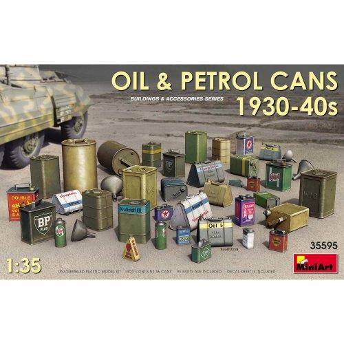 MIN35595 - Miniart 1:35 - Oil & Petrol Cans 1930-40s