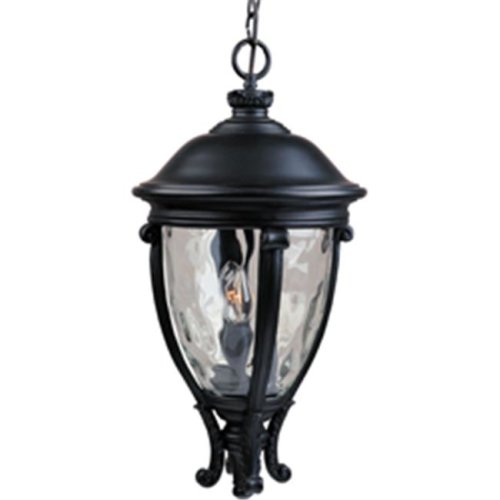 Maxim Lighting 41429WGBK Camden VX 3-Light Outdoor Hanging Lantern - Black