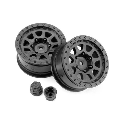 HPI Racing HPI116840 Venture Toyota CR-10 Wheel 1.9, Black - 2 Piece
