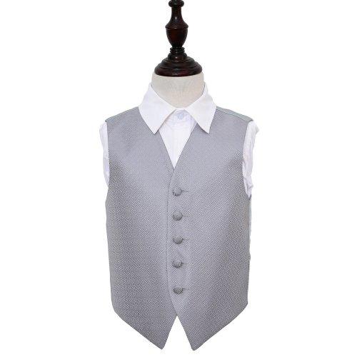 Silver Greek Key Wedding Waistcoat for Boys 32'