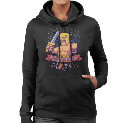 Absolutely Barbaric Clash Of Clans Women's Hooded Sweatshirt