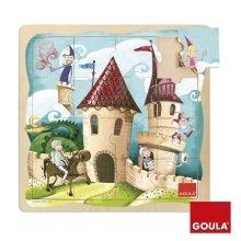Goula Castle Wooden Puzzle (16 Pieces)