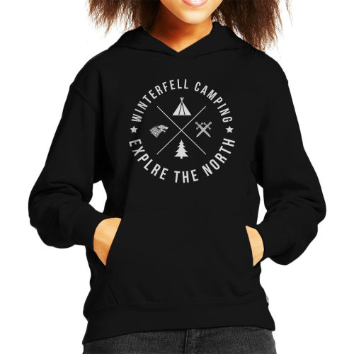 Winterfell Camping Explore The North Game Of Thrones Kid's Hooded Sweatshirt