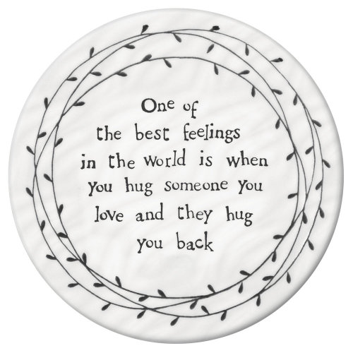 East of India Leaf Coaster - One of the best feelings in the world Hug - Keepsake Gift