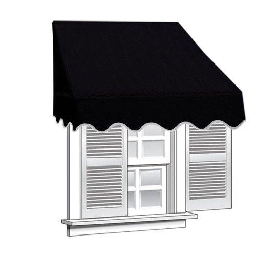 Aleko WAW8X2BLACK81-UNB 8 x 2 ft. Window Door Canopy Decorator Awning, Black