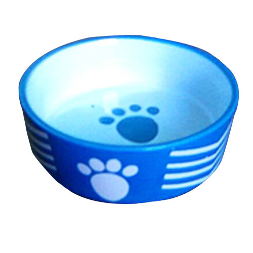 Porcelain Pets Puppy Food Water Bowls Dogs Bowls Cats Pet Supplies - Blue