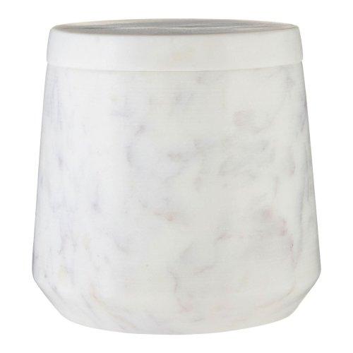 Marble Cotton Jar - Off White