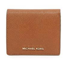 Michael Kors Jet Set Travel Saffiano Leather Card Holder - Brown - 32T6GTVD2L-230