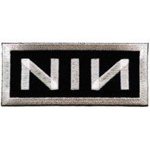 Application Nin White Logo on Black Patch