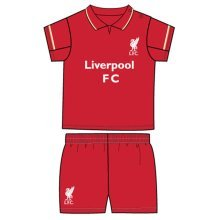 Liverpool Unisex Official Shirt And Shorts Set, Multi-colour, 2-3 Years - Set -  liverpool set 23 shirt fc official short yrs shorts years rw football