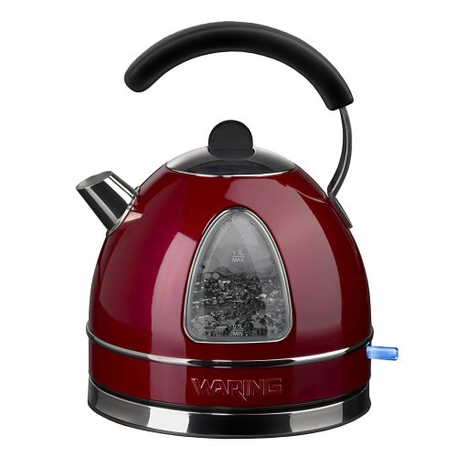 Waring WTK17RU Cordless Traditional Kettle 3000W Red 1.7L Stainless Steel