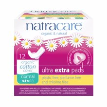 Natracare  Ultra Extra Pads With Wings - Normal 12s