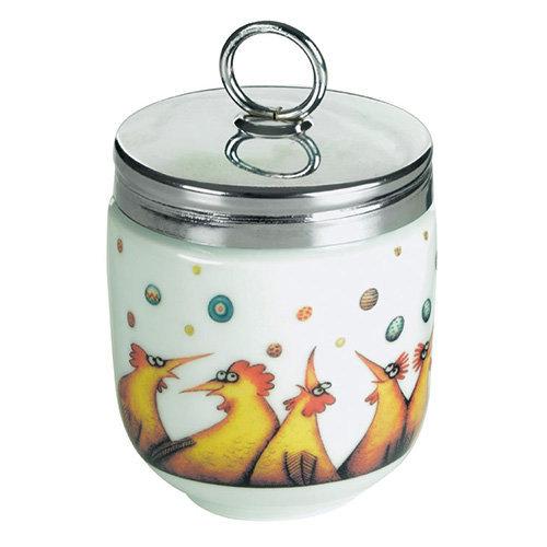 DRH Egg Coddler / Egg Poacher in Clare Mackie Chicken Design - 990112G+1571