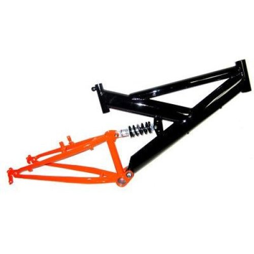 "FULL SUSPENSION Bike Bicycle FRAME for 20"" WHEEL Size 13""  BLACK & ORANGE"