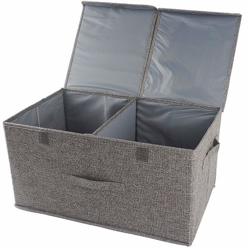 Storage Bo With Lids 60l Cube Box Handles Cotton Fabric Collapsible Bins Baskets For Clothes Toys Dvds Art And On
