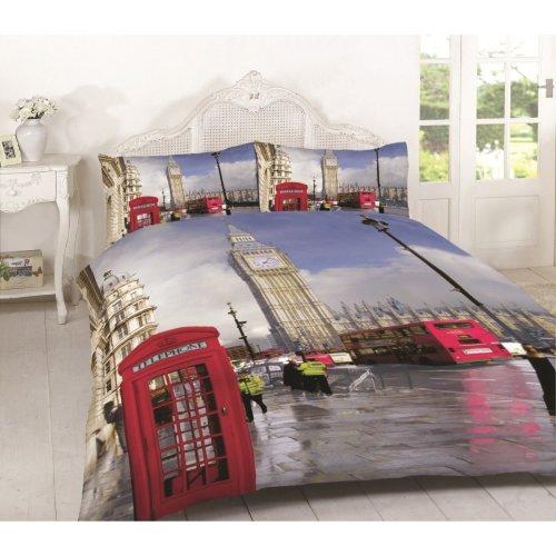 London Multi Duvet Quilt Cover Bedding Set