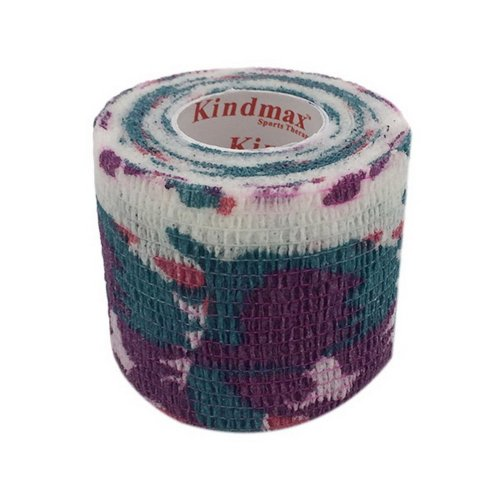 3 Rolls 2 Inches X 5 Yards Elastic Self Adhesive Bandages For Sports Purple Camo
