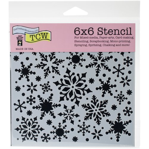 """Crafter's Workshop Template 6""""X6""""-Snowflakes"""