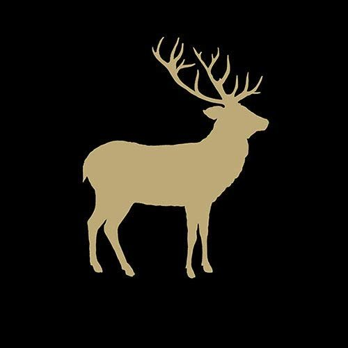 Ambiente 3 Ply Paper Napkins, Deer Contour Black and Gold