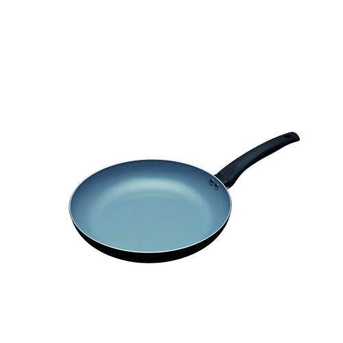 KitchenCraft MasterClass Eco Ceramic Frying Pan - Non-stick and Induction Safe, 28 cm - Black/Blue
