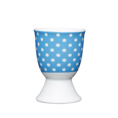 Kitchen Craft - Porcelain Egg Cup - Polkadot Blue