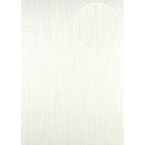 ATLAS CLA-596-1 Unicolour wallpaper subtly glittering oyster white 5.33 sqm