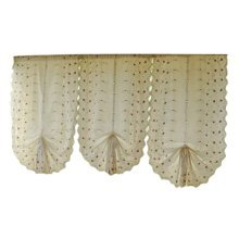 Cafe Curtain Window Valance/Romantic Curtain, Cherry(175*83cm)