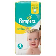 Pampers Premium Protection Softest Nappies Monthly Saving Pack -Size 4, Pack 168