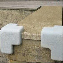 Ezy Outdoor Edge Guards Child Safety Concrete Corners in Light Grey
