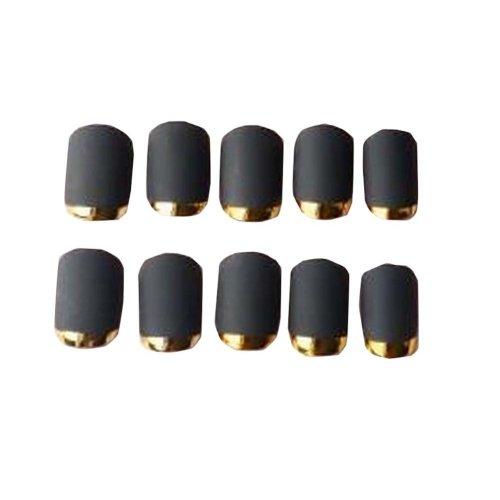 Black Dull Polished Women/Lady False Nails 24 PCS without Glue