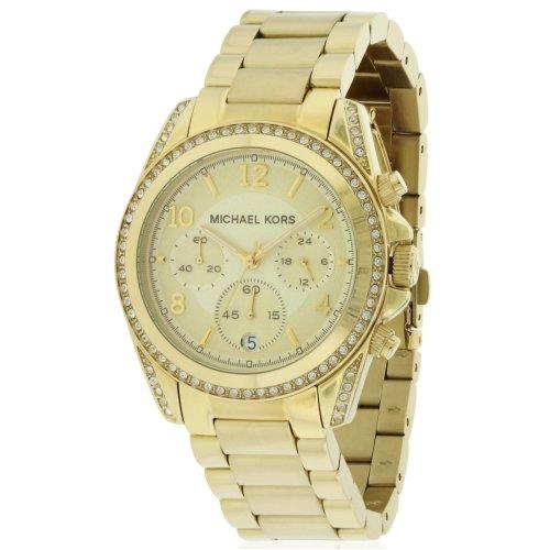 Michael Kors Gold-Tone Chronograph Ladies Watch MK5166