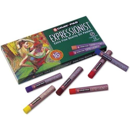 Sakura 130423 Cray-Pas Expressionist Oil Pastels 16-Pkg
