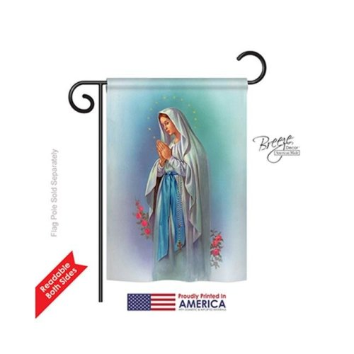 Breeze Decor 53050 Our Lady of Grace 2-Sided Impression Garden Flag - 13 x 18.5 in.