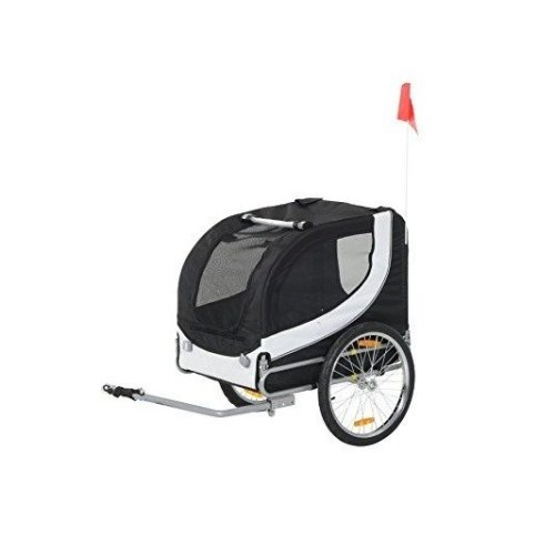 PawHut Pet Bike Trailer | Foldable Dog Tail Wagon