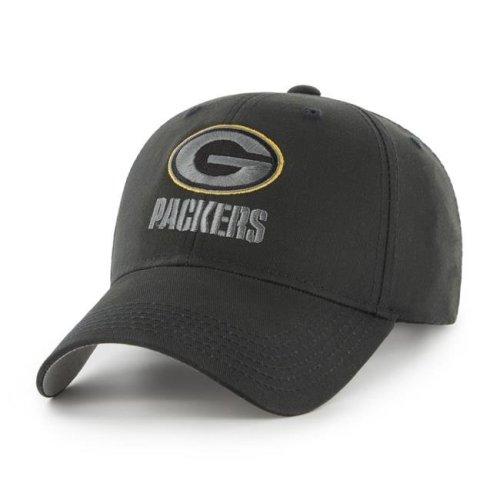 Fan Favorites F-MAC12BCV-BK NFL Green Bay Packers Black Mass Basic Adjustable Cap & Hat - One Size