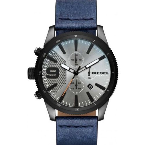 Diesel Watch DZ4456 Date Chronograph Blue Leather Man