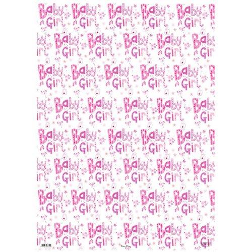 Simon Elvin 24 Sheets Baby Girl Gift Wraps