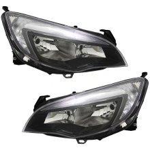 Vauxhall Astra J Mk6 2010-2012 Headlights Lamps Black Inner 1 Pair O/s & N/s