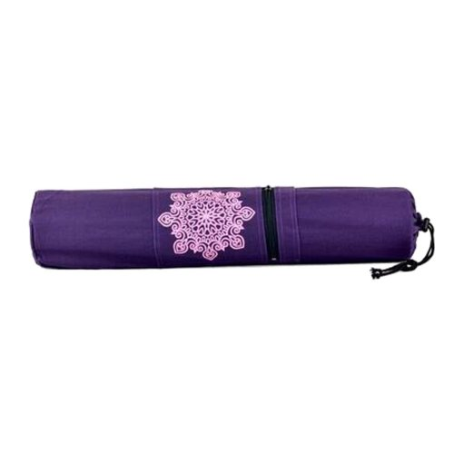 Large Canvas Pouch Yoga Mat Tote Bag:  Lightweight, Durable, Breathable[Purple]