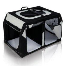 Trixie Vario Double Tour Transport Box, 95 x 69 x 61 Cm/ 57 Cm, Black/ Grey - -  x trixie dog kennel vario double 91 60 6157 cm new