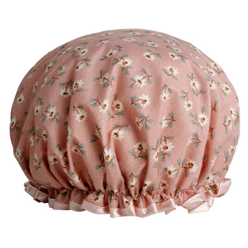Womens Stylish Design Mold-resistant Shower Cap Double Layers Waterproof Bath Cap,M