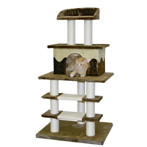 Kerbl Cat Olymp Scratching Tree, 70 x 60 x 128 cm, Brown/Beige