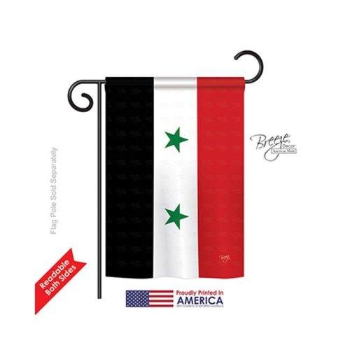 Syria 2-Sided Impression Garden Flag - 13 x 18.5 in.