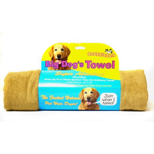 Snugglesafe Micro Fibre Big Dog Brown Towel 140x76cm (55x30'') (Pack of 3)