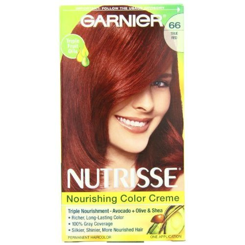 Garnier Nutrisse Permanent Haircolor 66 True Red Pomegranate