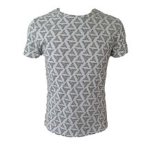 Assassins Creed Adult Male Abstergo Logo All-Over Print T-Shirt M Size - Grey