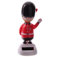 Solar Powered Royal Guardman Pal Nodding Dancing Novelty Home Car Window Dashboard Ornament Fun
